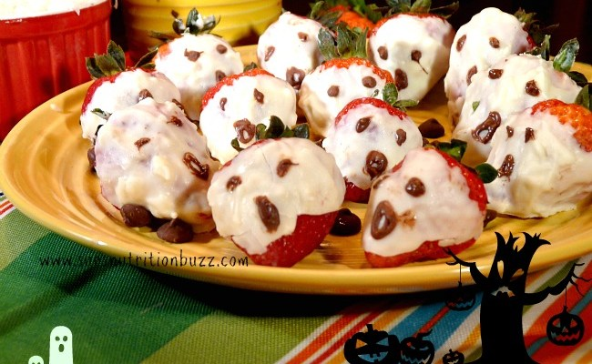 White Chocolate Strawberry Ghosts #SundaySupper