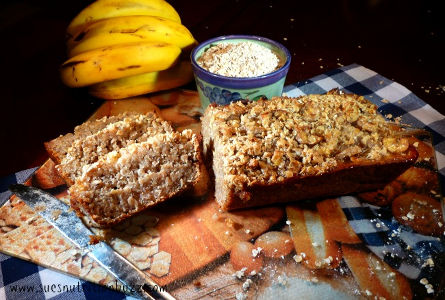 Quinoa Banana Bread with Flax & Coconut oil
