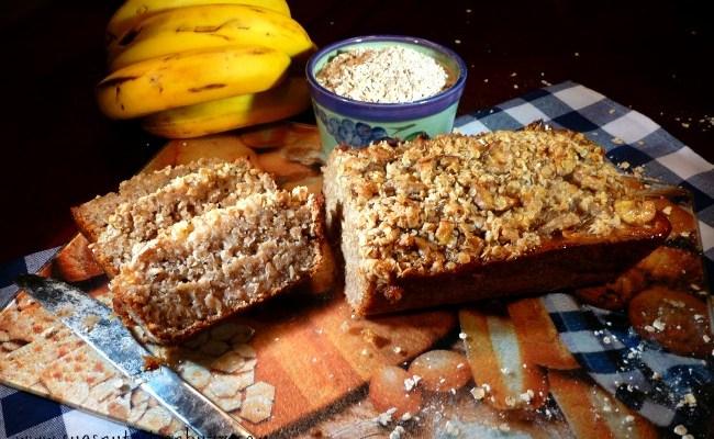 Quinoa Banana Bread with Flax & Coconut oil