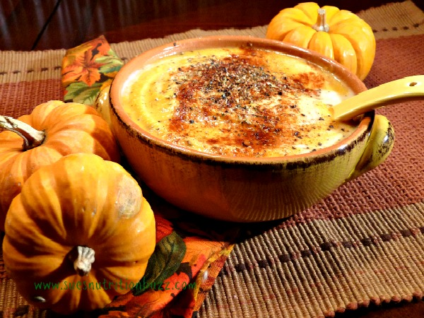 Roasted Pumpkin Red Pepper Soup Spiked with Coconut Oil & Garlic