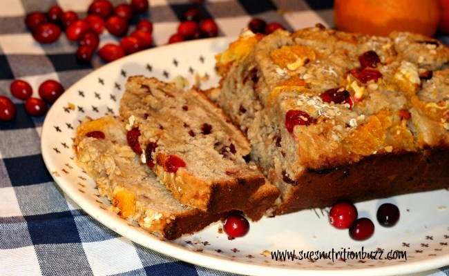 Wholesome Oat Bread with Fresh Cranberries Orange & Coconut Oil  #GlutenFree