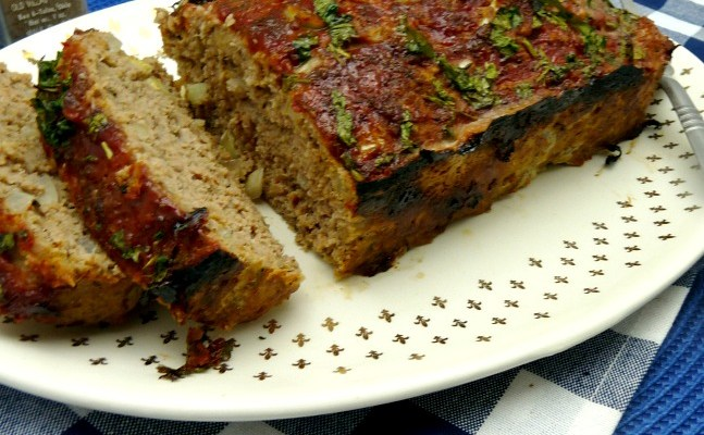 Turkey Meatloaf With Flax Meal and Walnuts