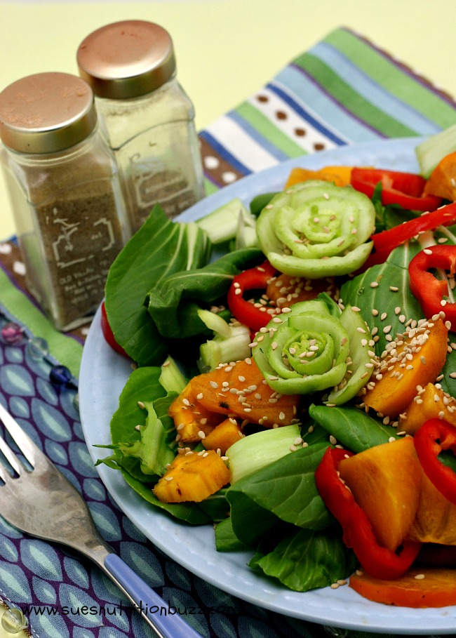 Persimmon Bok Choy Salad. Bok Choy Salad with Sesame ...