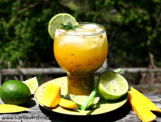 Mango Aqua Fresca With Chia Seeds #SundaySupper