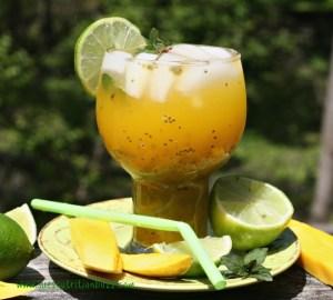 Mango Aqua Fresca with Chia Seeds