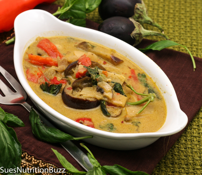 Thai Red Curry with Grilled Eggplant
