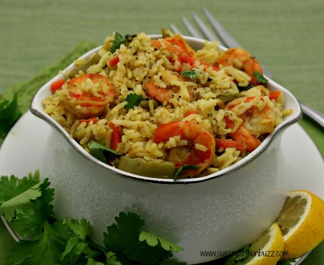 shrimp coconut pilaf