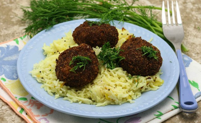 Tuna Dill Patties With Lemon Rice #WeekdaySupper