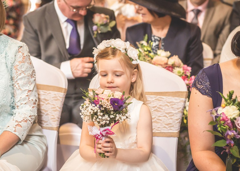 flower girl alnwick castle wedding