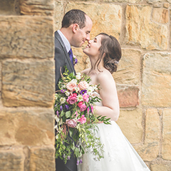 Alnwick castle wedding stolen kiss