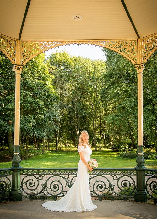 bride solo photograph