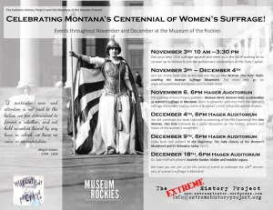 Montana suffrage centennial events