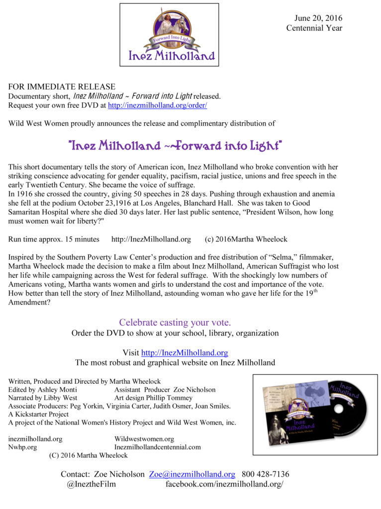 Press Release Inez Milholland June 20 (13) (dragged)