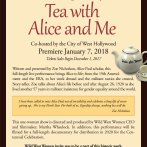 """""""Tea with Alice and Me"""" premier in January 2018 and work underway for a women's history trail"""