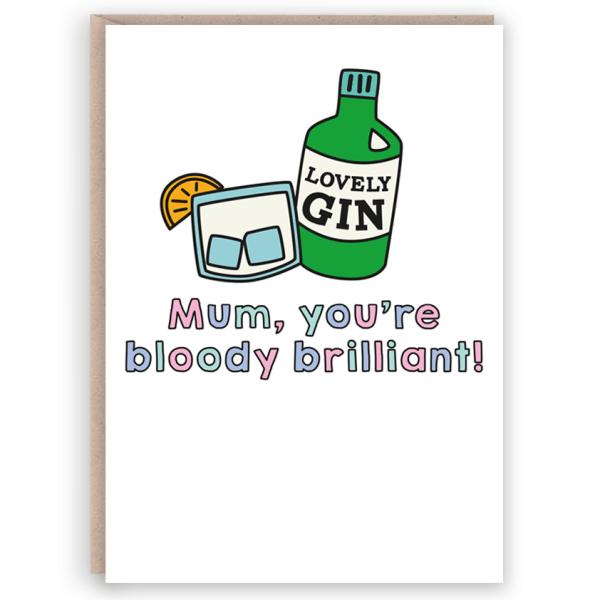 mum Gin card