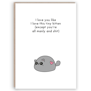 manly kitten card