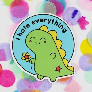cute dinosaur vinyl sticker