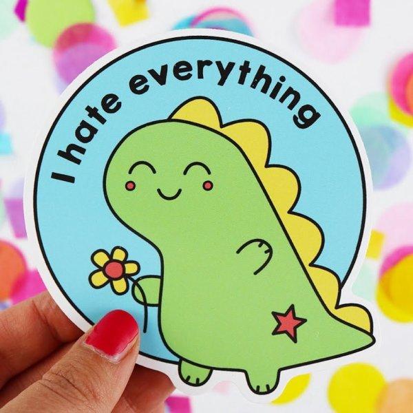 cute dinosaur vinyl sticker
