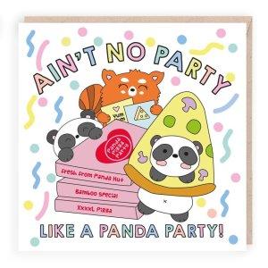panda party funny birthday card