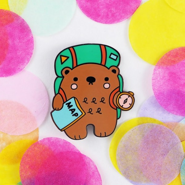 Adventure Bear Hard enamel pin