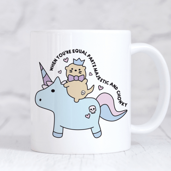 When you're equal parts majestic and chonky otter unicorn mug