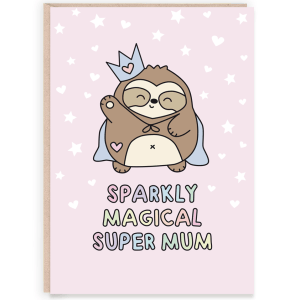 sparkly magical mum card