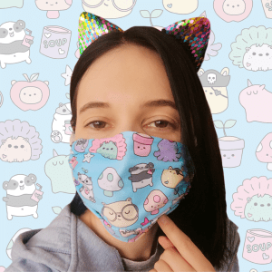 forest cute cartoon face mask