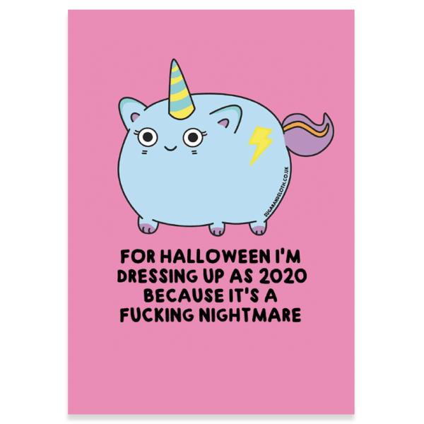 Halloween funny cute postcard