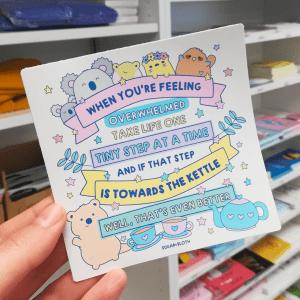 Cute animal sticker