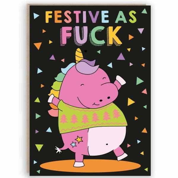 funny sweary christmas card
