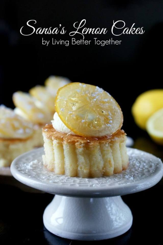 Sansa's Lemon Cakes for your Game of Thrones Viewing Party