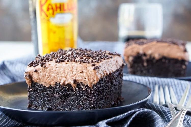 Kahlua Chocolate Poke Cake