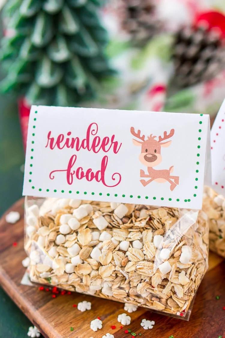 It is a photo of Sweet Reindeer Food Recipe Printable Tag Poem