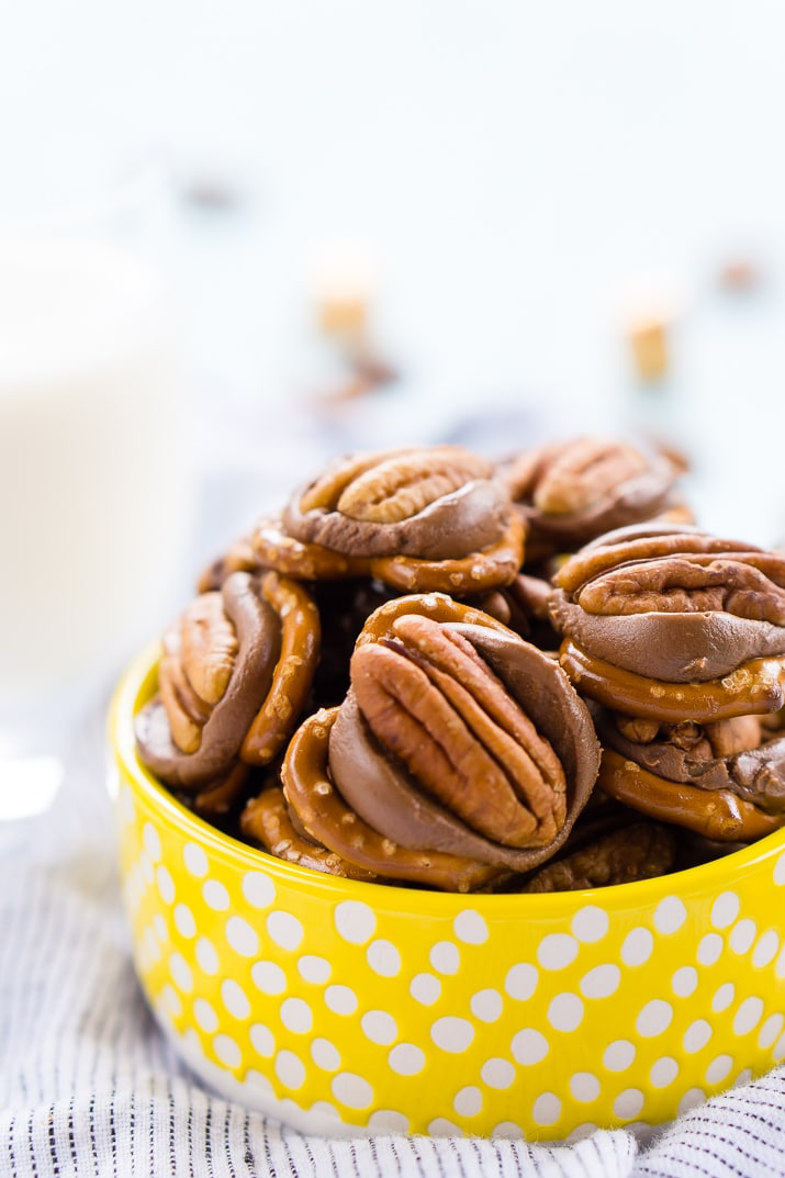 Pretzel Turtles are made with just three ingredients and everyone will love the mix of salty and sweet in this delicious little dessert candy!