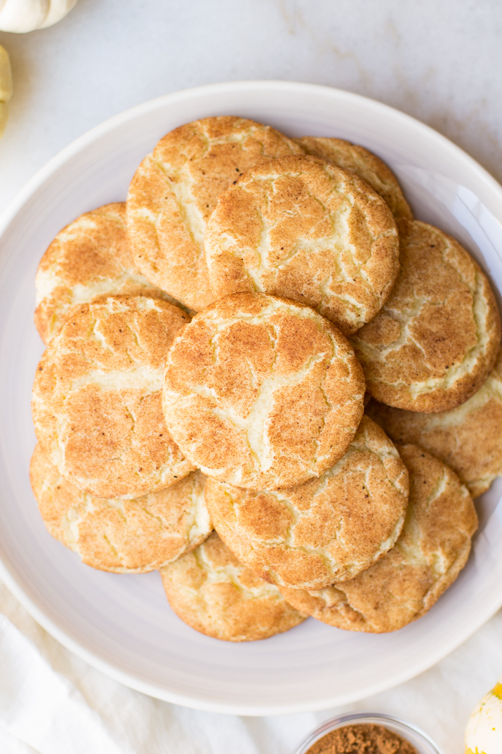 Classic snickerdoodle cookies get dressed up for fall in this Pumpkin Spice Snickerdoodles recipe. These big, soft cookies with a crisp pumpkin spice coating are sure to be a fall favorite!