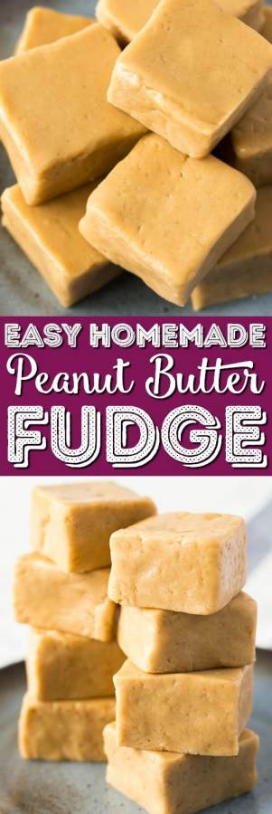 This Easy Peanut Butter Fudge is a simple recipe to make and is the perfect balance of sweet and salty. It's soft and creamy and great for the holidays and special occasionsor just because!