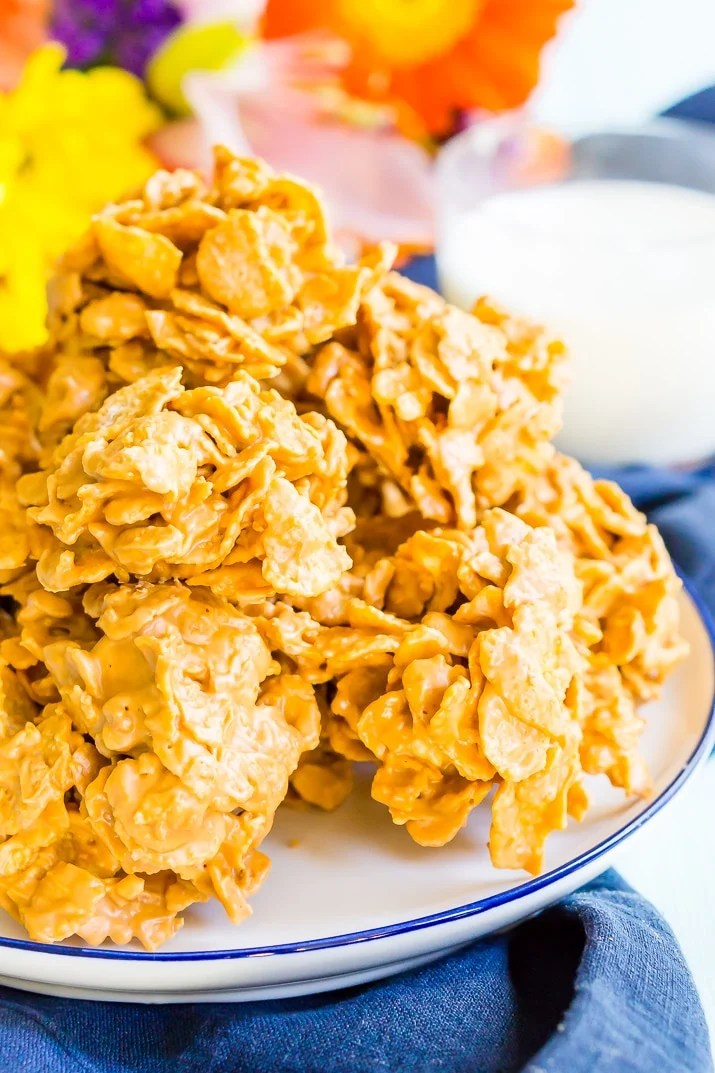 Butterscotch Cornflake Cookies are and easy no-bake dessert