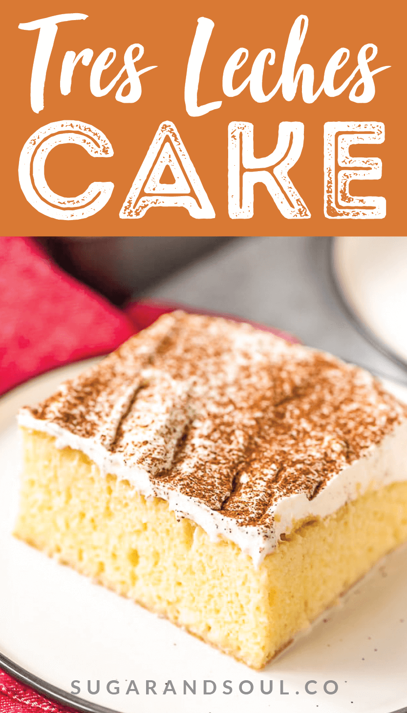 This classic Tres Leches Cake is the pride and joy of Latin America, an utterly delicious in its simplicity. A light vanilla sponge cake issoaked with a mixture of three milks, then topped with a thick layer of whipped cream and a sprinkle of cinnamon.