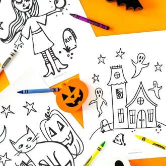 These Free Halloween Coloring Pages are an easy way to add entertainment to the spookiest month of the year! Print them right at home and let your kids color!