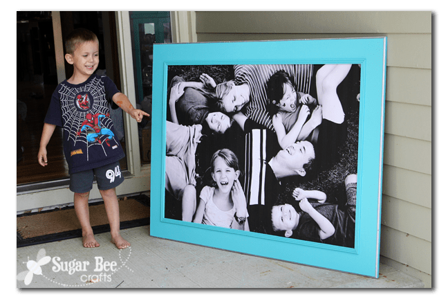 giant picture on wall tutorial get