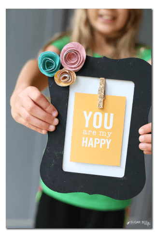 make your own inspirational interchangeable frame