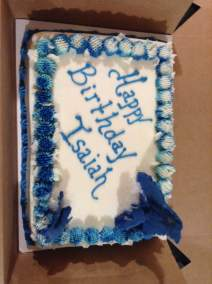 A new sheet cake blue