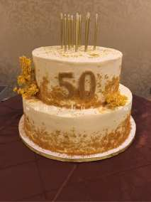 A 50th anniversary cake