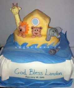 A Noah's ark cake