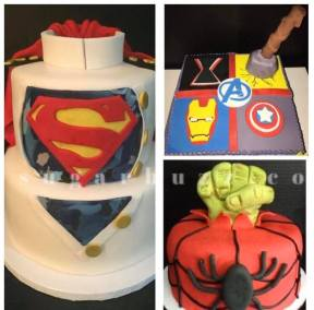 A superhero collage