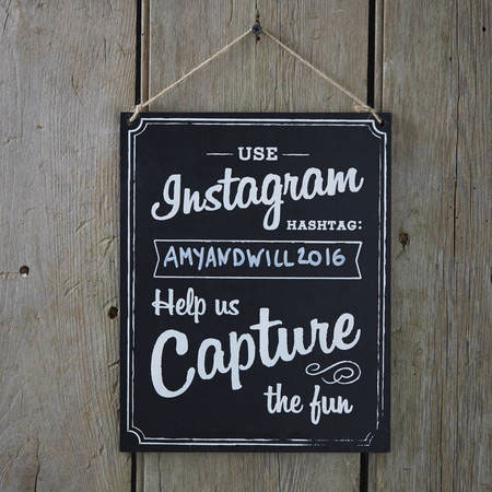 Large Wooden Instagram Sign use instagram hashtag help us capture the fun