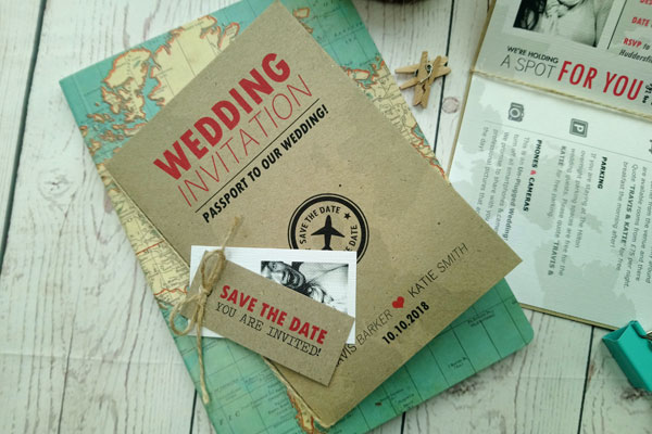 Passport Destination Travel Wedding Invitation main picture