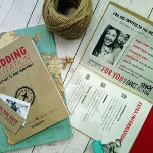 Passport Destination Travel Wedding Invitation