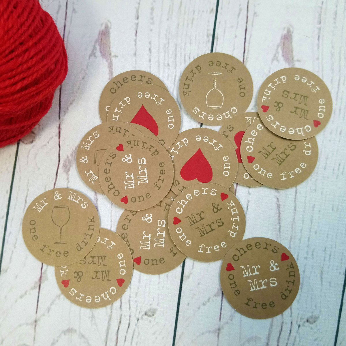 Photo Booth free drink tokens for wedding guests