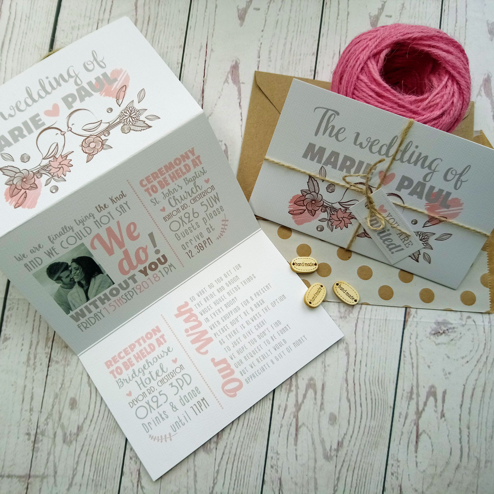 vintage birds wedding invitation 095 - What Goes In A Wedding Invitation